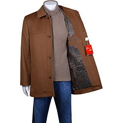 Mantoni Men's Single-breasted Wool/ Cashmere Peacoat