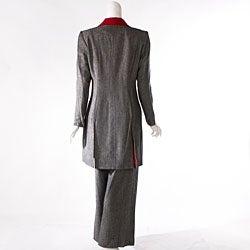 Audrey B Women's Long Suit Coat and Pant Set