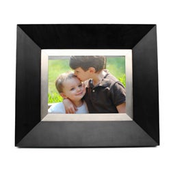 Cagic 8.4-inch Luxury Metal and Wood Black Digital Frame
