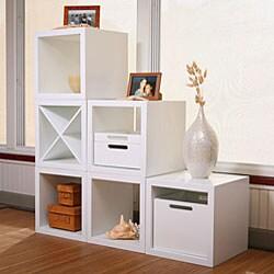 White Modular Square Storage Open Unit
