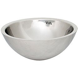 Bathroom Vessel Sink on Geyser Stainless Steel Bathroom Vessel Sink   Overstock Com Shopping