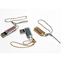 USB 2GB Flash Drive with Swarvoski Crystals