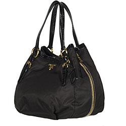 bag prada red - Prada \u0026#39;Tessuto Vernice\u0026#39; Black Tote - 11879648 - Overstock.com ...