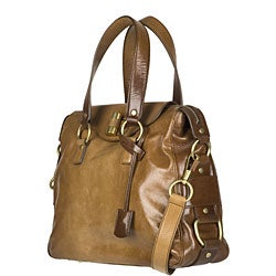 Yves Saint Laurent \u0026#39;Rive Gauche\u0026#39; Brown Satchel - 11879805 ...