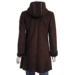 Via Spiga Women's Hooded Faux Shearling Coat