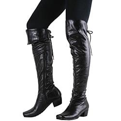 Beston Women's Low-heel Motorcycle Boots