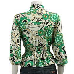 Simply Irresistible Women's Printed Shirred-waist Shirt