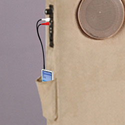 Microfiber Upholstered MP3 Headboard