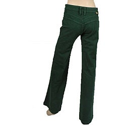 New A Pair Of Tom Ford For Gucci Green Leather Pants These 100% Leather Pants Designed By Tom Ford For Gucci Are Made In A Forest Green With Silver Thread Embellishments Along The Hips And Flared Legs The Pants Fasten With A Zipper Made