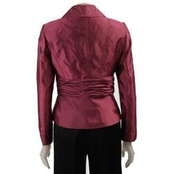 Larry Levine Women's Shantung Pant Suit