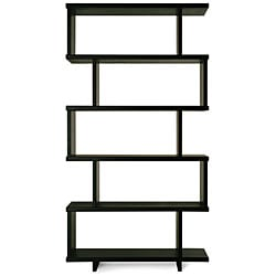 Staggered shelf bookcase 11967319 for Furniture of america nara contemporary 6 shelf tiered open bookcase