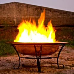 Unique Arts 24-inch Copper Firepit