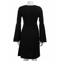calvin klein women's longsleeve vneck sweater dress