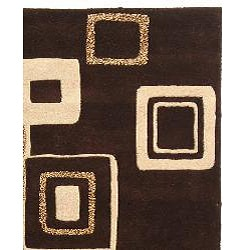 Safavieh Handmade Soho Gala Modern Abstract Brown/ Beige Wool Rug