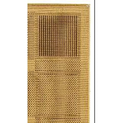 Indoor/ Outdoor Lakeview Natural/ Brown Rug (2'7 x 5')