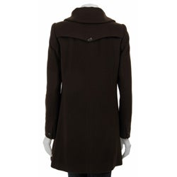 Cole Haan Women's Wool/ Cashmere A-line Coat
