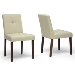 Glen Cream Fabric Dining Chairs (Set of 2)