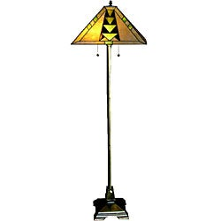 Tiffany style mission floor lamp overstocktm shopping for Overstock tiffany floor lamp