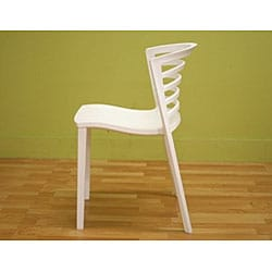 White Modern Accent/ Dining Chairs (Set of 2)