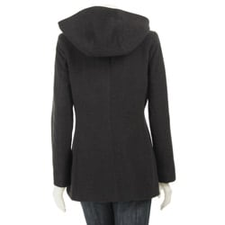AK Anne Klein Women's Plus Size Short Wool Coat