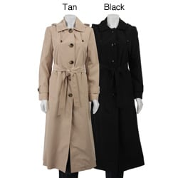 London Fog Women's Long Trench Coat