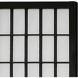 Wood/ Paper 3-foot 6-panel Miniature Windowpane Shoji Screen (China)