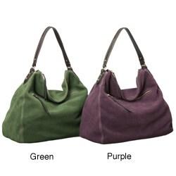 Presa 'Cydnee' Large Suede Hobo-style Handbag