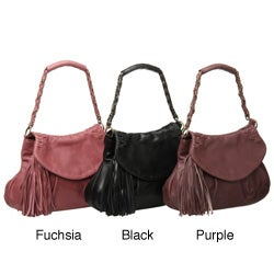 Presa 'Jubilee' Small Leather Tassle Shoulder Bag