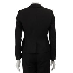 Nine West Women's Sequin Collar 2-piece Pant Suit
