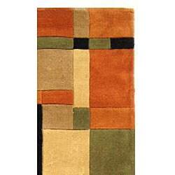 Handmade Rodeo Drive Noho Rust/ Multi N.Z. Wool Rug (9'6 x 13'6)