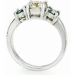 14k Gold 1 5/8ct TDW White/ Blue-green Diamond Ring (H, I1) (Size 6.75)