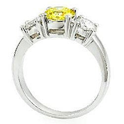 14k Gold 1 3/4ct TDW Yellow/ White Diamond Ring (G-H, SI) (Size 6.5)