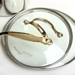 Potobelo Gourmet 10-piece Gold Accent Cookware Set