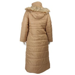 Yoki Contemporary Quilted Hooded Buckle/ Hard Clasp Coat