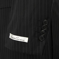 Kenneth Cole Slim Collection Men's Black Pinstripe Suit
