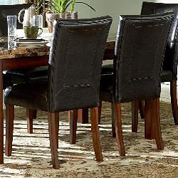 ETHAN HOME Hutton Faux Leather Upholstered Dining Chair (Set of 2)