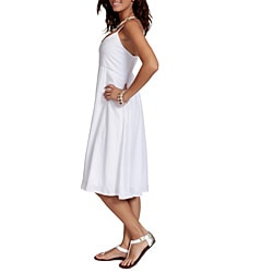 White Lined Sun Dress (Indonesia)