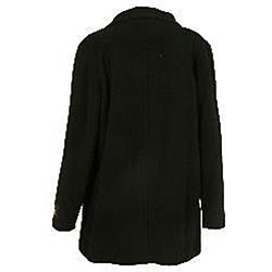 Nicole Women's Cashmere Blend Side-zip Black Jacket