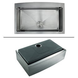 Kraus 33-inch Farmhouse Apron Single-bowl Steel Kitchen Sink