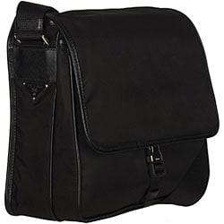 Prada Tessuto and Saffiano Messenger Bag - 12266693 - Overstock ...