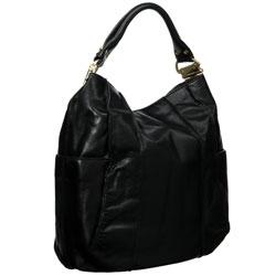 Steve Madden Black Leather Hobo Bag