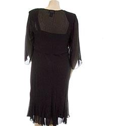 SL Fashions Women's Plus Size Emma Beaded Jacket Dress