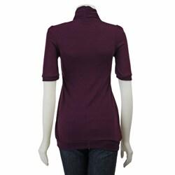 Nice Wear Women's Short-sleeve Rib Knit Top