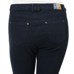 Beau Women's Plus Size Stretch Denim Stirrup Jeans