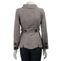 Last Kiss Women's Tweed Peacoat