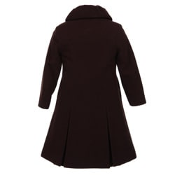 Rothschild Girl's Rosette Wool Blend Coat and Hat Set