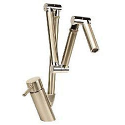 Geyser Brushed Nickel Chrome Jointed Articulating Kitchen Faucet 12308825