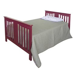 Belle Red Mini Crib in Red