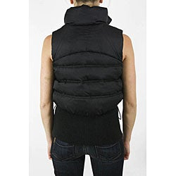 Diesel Women's Dark Navy Layered Sleeveless Vest