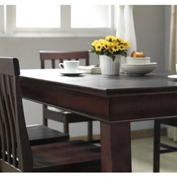 48-inch Espresso Wood Dining Table